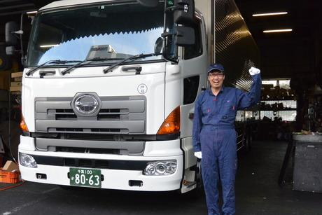 トラックの整備士(2級整備士以上)自社工場での作業 <残業なし>